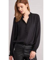 blouse met ruche kraag