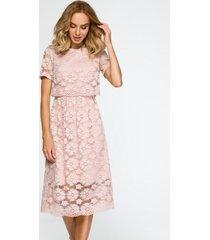 sukienka koronkowa midi