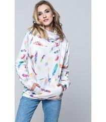 bluza hoodie feather white
