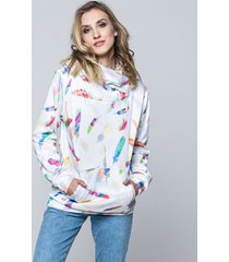 bluza hoodie feather white