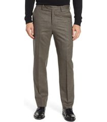 men's berle flat front classic fit stretch houndstooth wool dress pants