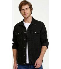 jaqueta masculina jeans bolsos