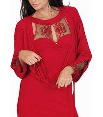 pyjama's / nachthemden lisca bolero jasje koningin rose