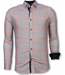 overhemd lange mouw tony backer blouse line pattern