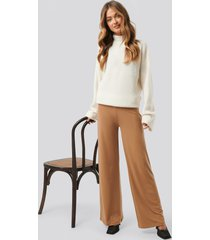 sisters point gro pants - brown