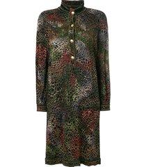 a.n.g.e.l.o. vintage cult animal print buttoned dress - multicolour