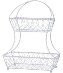 mikasa loop lattice 2 tier flatback basket
