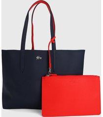 bolso doble faz azul oscuro-rojo lacoste