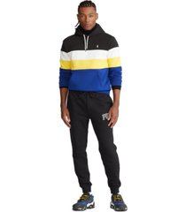 polo ralph lauren men's big & tall color-blocked double-knit hoodie