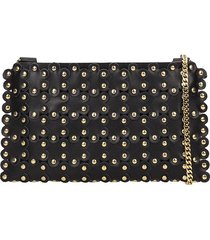red valentino clutch in black leather