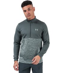 mens armour fleece 1/2 zip sweatshirt