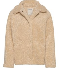 jackets indoor woven outerwear faux fur beige esprit casual