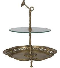 petisqueira de bronze stand
