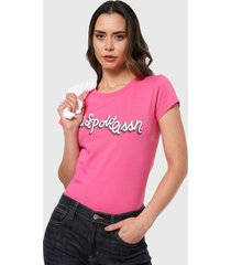 camiseta rosado us polo assn