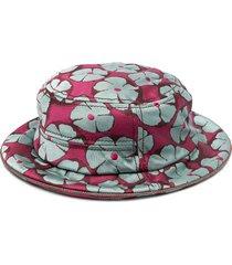 10 corso como floral jacquard bucket hat - grey