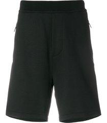 dsquared2 sequin side stripe shorts - black