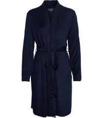 jacket morgonrock blå schiesser