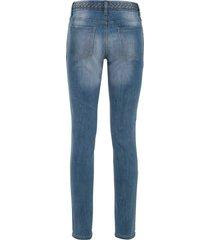 skinny jeans met gevlochten details