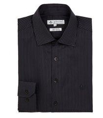 camisa dudalina manga longa cetim fio tinto maquinetado listrado masculina (azul medio, 48)