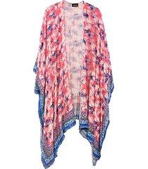 tie-dyed open-front kimono