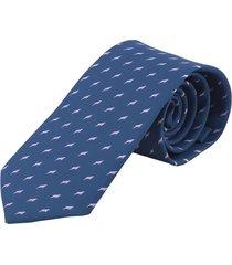 corbata delfin rosado - azul oscuro prietto & co