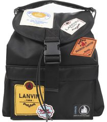 lanvin black labels backpack