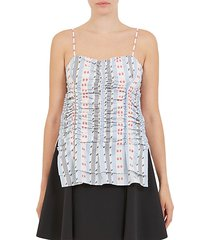 jacquard ruched tank