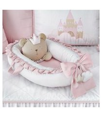 ninho bebê redutor berço rosa ursa princesa grão de gente rosa