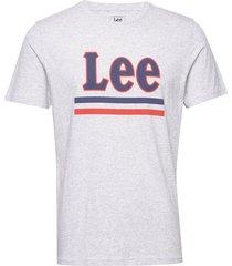 lee stripe tee t-shirts short-sleeved grå lee jeans