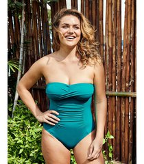 illusion bandeau firm control one-piece swimsuit