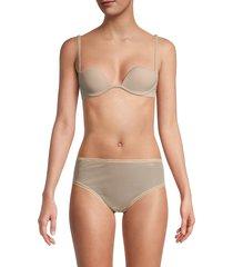 la perla women's padded push-up bra - black - size 34 b