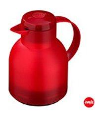 garrafa termica com capacidade de 1 litro quick press samba vermelha - emsa