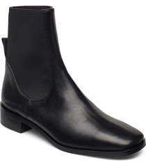 vernazza black vacchetta shoes boots ankle boots ankle boot - flat svart atp atelier