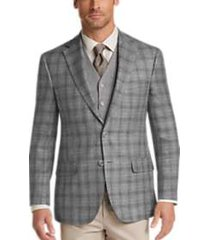 joseph abboud gray plaid modern fit sport coat