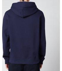 kenzo men's light tiger classic hooded sweatshirt - navy blue - xxl