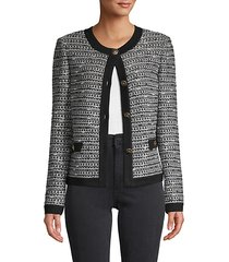 button-front wool-blend cardigan