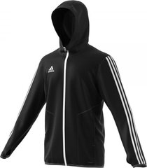 adidas tiro19 warm trainingsjack black white zwart