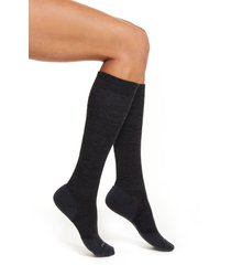 women's smartwool compression light elite over the calf socks, size small - grey