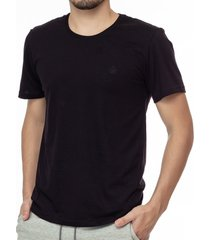 camiseta masculina bã¡sica preta com bordado area verde - 100% algodã£o - multicolorido - masculino - dafiti