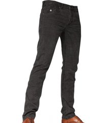 cast iron slim straight jeans donkergrijs check