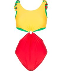 paper london barbuda cutout swimsuit - multicoloured