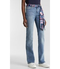 jeans boot medium rise con pañuelo bandana denim esprit