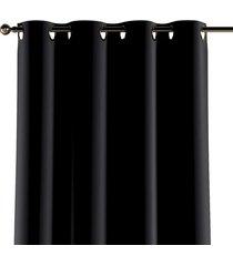 zasłona na kółkach velvet czarny 130x260cm