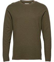 jjephilly tee ls crew neck t-shirts long-sleeved grön jack & j s
