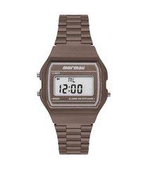 relógio digital mormaii feminino - mojh02bj marrom