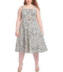 rachel rachel roy plus size belted fit & flare dress