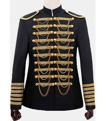 blazer per abiti da uomo con catene corte in metallo