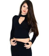 blusa up side wear transpassada preta