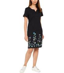 karen scott petite climbing garden dress, created for macy's