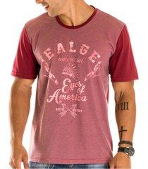 camiseta masculina ealge estampa frontal - area verde - multicolorido - masculino - dafiti